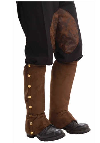 Click Here to buy Steampunk Suede Shoe Spats from HalloweenCostumes, CDN Funds & Shipping
