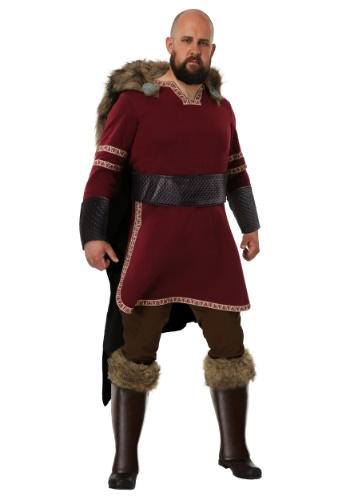Burgundy Viking Mens Costume