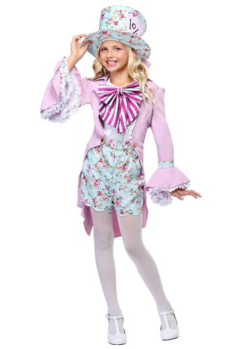 Click Here to buy Pretty Mad Hatter Girls Costume from HalloweenCostumes, CDN Funds & Shipping