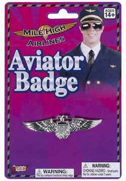 Aviator Wings Badge