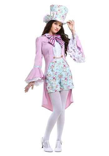 Click Here to buy Pretty Mad Hatter Womens Costume from HalloweenCostumes, CDN Funds & Shipping
