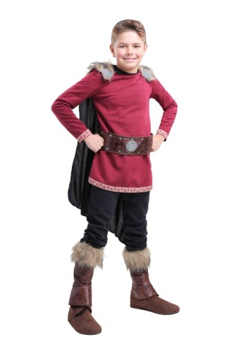 Click Here to buy Burgundy Viking Boys Costume from HalloweenCostumes, CDN Funds & Shipping