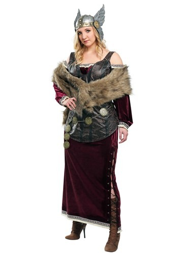 Click Here to buy Plus Sized Womens Viking Goddess Costume from HalloweenCostumes, CDN Funds & Shipping
