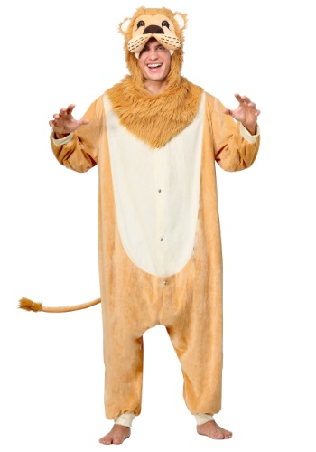 Click Here to buy Lion Pajama Adult Costume from HalloweenCostumes, CDN Funds & Shipping