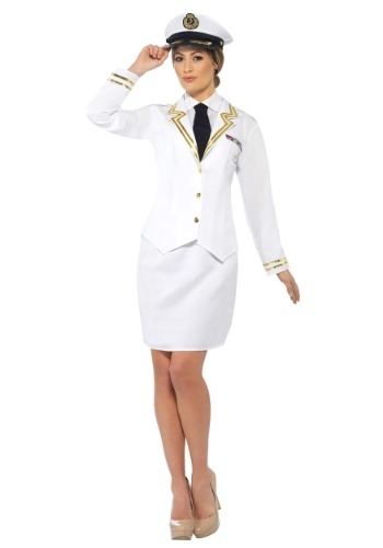 Click Here to buy Naval Officer Plus Size Womens Costume from HalloweenCostumes, CDN Funds & Shipping