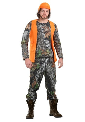 Camo Hunter Costume for Plus Size Men
