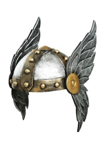 Women's Open Face Winged Helmet