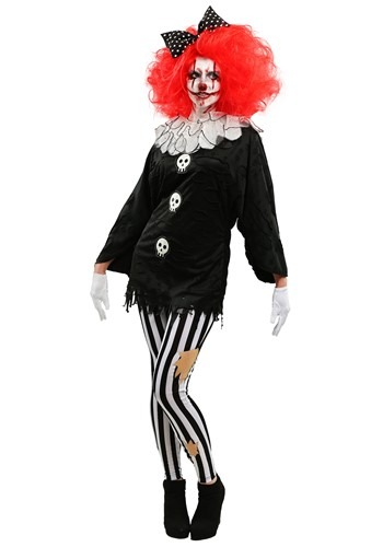 Click Here to buy Frightful Clown Womens Costume from HalloweenCostumes, CDN Funds & Shipping
