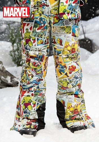 Kids Marvel Retro Comic Snow Pants