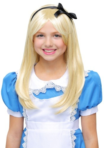 Click Here to buy Deluxe Alice Wig for Kids from HalloweenCostumes, CDN Funds & Shipping