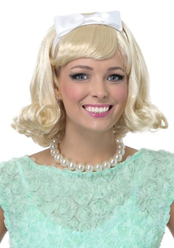 Click Here to buy Womens 50s Blonde Flip Wig from HalloweenCostumes, CDN Funds & Shipping