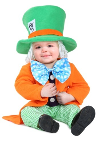 Click Here to buy Lil Hatter Costume for Babys from HalloweenCostumes, CDN Funds & Shipping