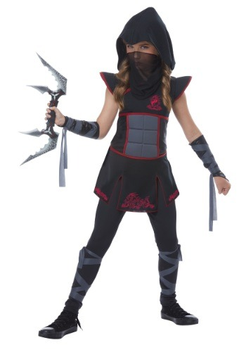 Click Here to buy Black Ninja Girls Costume from HalloweenCostumes, CDN Funds & Shipping