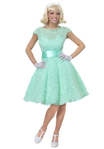 50s Womens Plus Size Prom Dress Costume