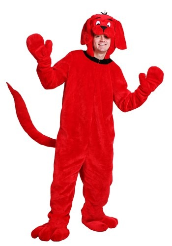 Clifford the Big Red Dog Plus Size Costume for Adults