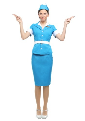 Click Here to buy Flight Crew Plus Size Womens Costume from HalloweenCostumes, CDN Funds & Shipping