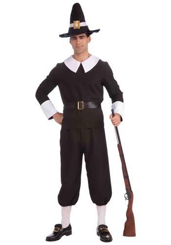 Click Here to buy Adult Pilgrim Man Costume from HalloweenCostumes, CDN Funds & Shipping