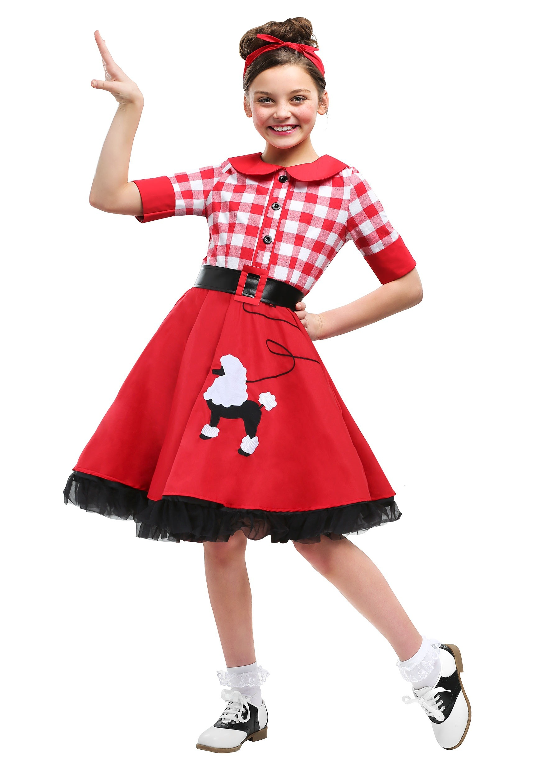 50 Halloween Hair And Makeup Tutorials: 50s Darling Costume For Girls