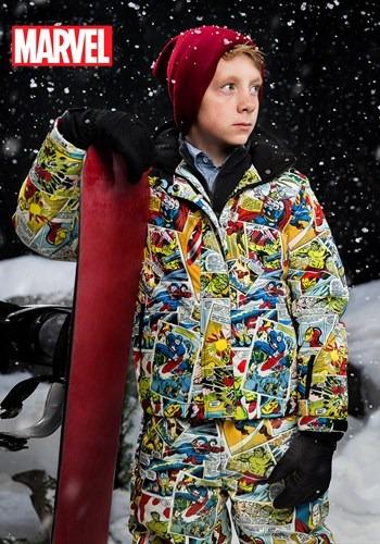 Kids Marvel Comic Print SnowJacket