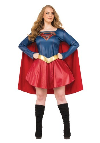 Plus Size Supergirl TV Costume for Women