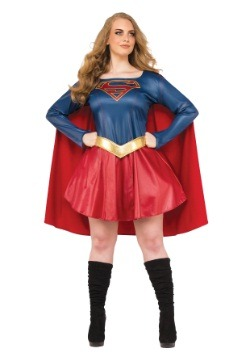 Women's Plus Size Supergirl TV Costume