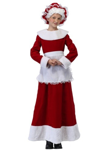 Click Here to buy Mrs. Claus Girls Costume from HalloweenCostumes, CDN Funds & Shipping