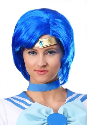 Click Here to buy Sailor Moon Sailor Mercury Wig for Adults from HalloweenCostumes, CDN Funds & Shipping