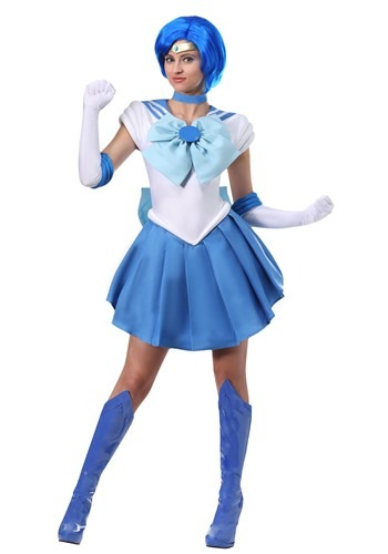Click Here to buy Sailor Mercury Womens Costume from HalloweenCostumes, CDN Funds & Shipping