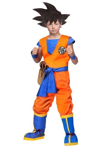 Click Here to buy Dragon Ball Z Authentic Goku Kids Costume from HalloweenCostumes, CDN Funds & Shipping
