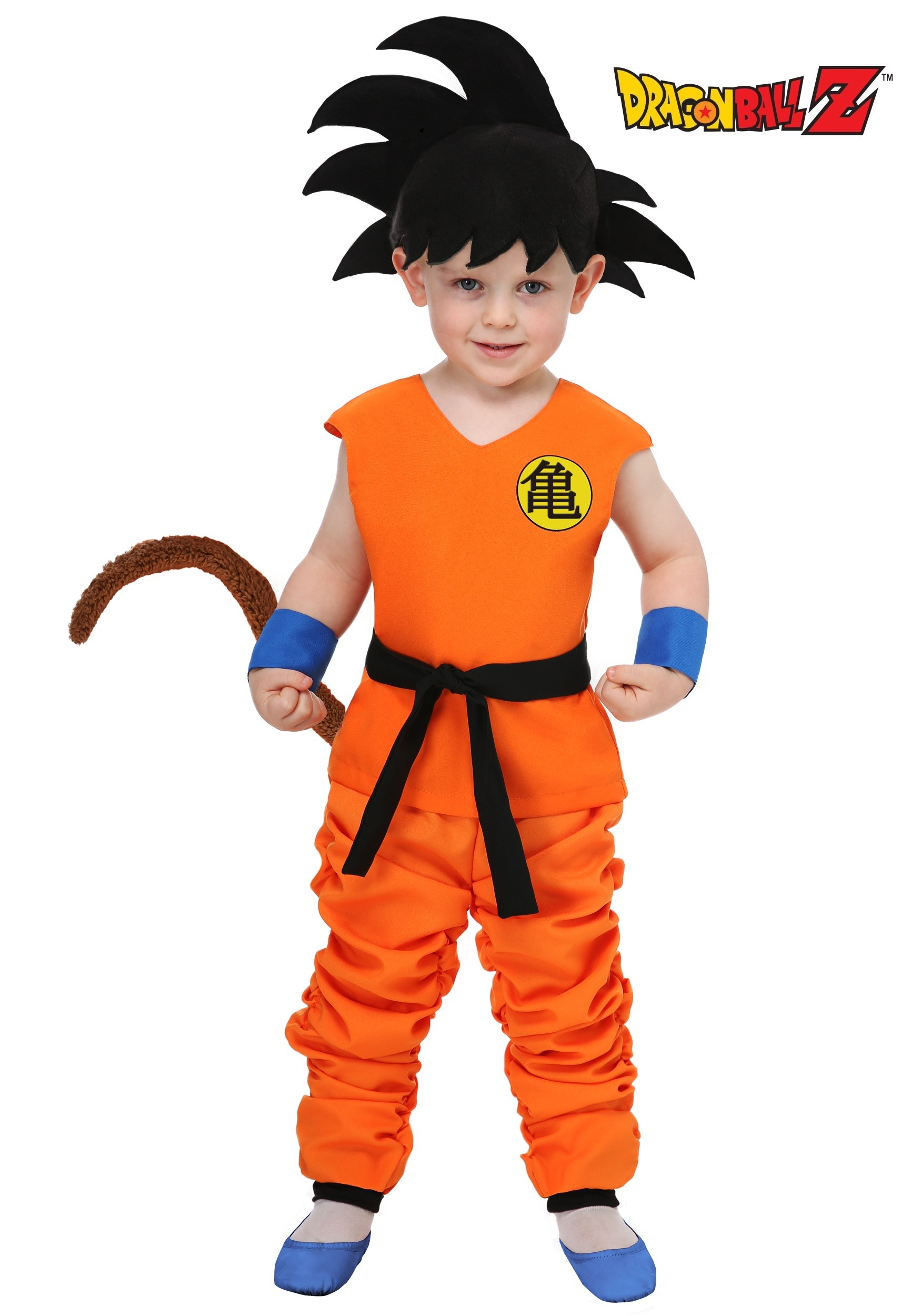 Dragon Ball Toddler Kid Goku Costume  sc 1 st  Halloween Costumes CA & Dragon Ball Kid Toddler Goku Costume