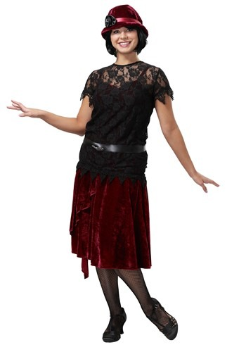 Toe Tappin Flapper Plus Size Costume for Women