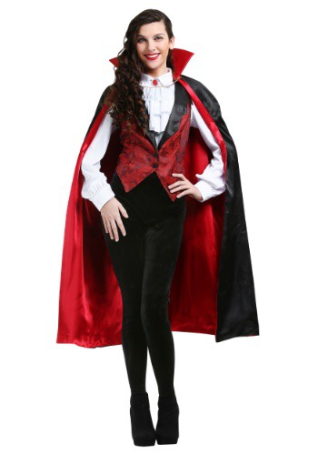 Womens Plus Size Fierce Vampire Costume