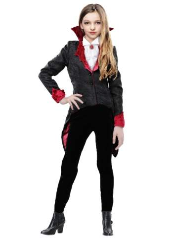 Click Here to buy Girls Dashing Vampiress Costume from HalloweenCostumes, CDN Funds & Shipping