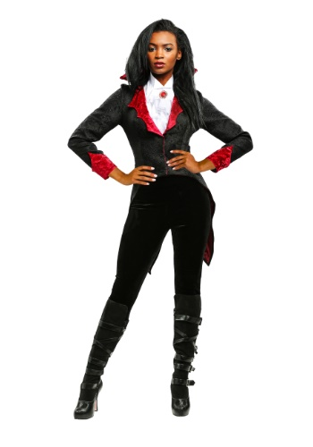 Womens Plus Size Dashing Vampiress Costume