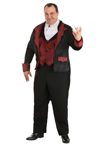 Click Here to buy Dashing Vampire Costume for Plus Size Men from HalloweenCostumes, CDN Funds & Shipping