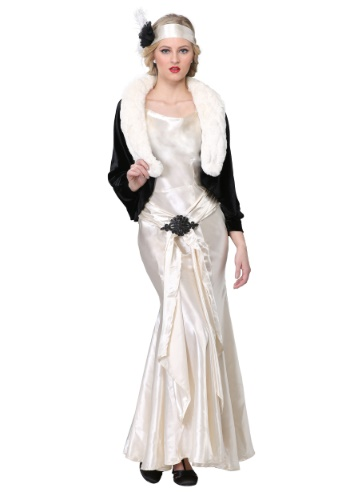 Click Here to buy 1920s Socialite Plus Size Womens Costume from HalloweenCostumes, CDN Funds & Shipping