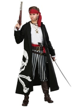 Pirate Flag Captain Plus Size Mens Costume