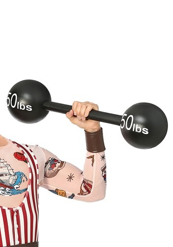 Click Here to buy 100lbs Strongman Barbell Weight from HalloweenCostumes, CDN Funds