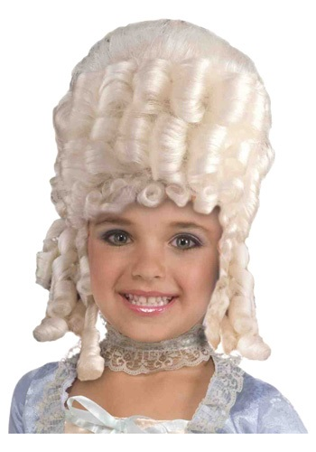 Click Here to buy Marie Antoinette Costume Wig for Kids from HalloweenCostumes, CDN Funds & Shipping