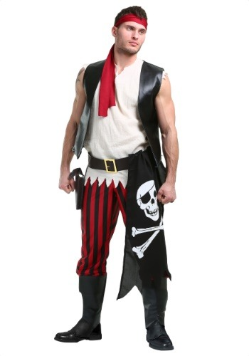 Click Here to buy Fighting Deckhand Pirate Mens Costume from HalloweenCostumes, CDN Funds & Shipping