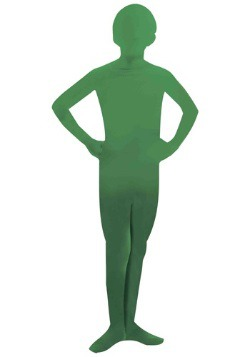 Child Green Man Skin Suit