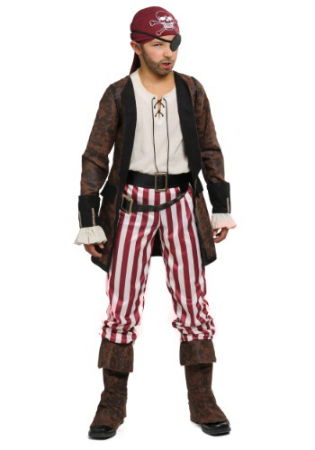 Click Here to buy Brown Coat Pirate Boys Costume from HalloweenCostumes, CDN Funds & Shipping