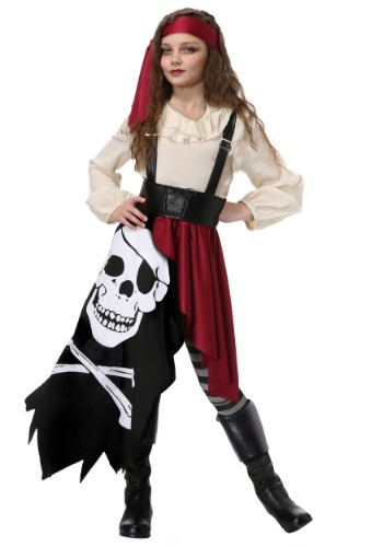 Pirate Flag Gypsy Costume For Girls
