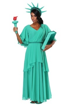 Women's Plus Size Statue of Liberty Costume