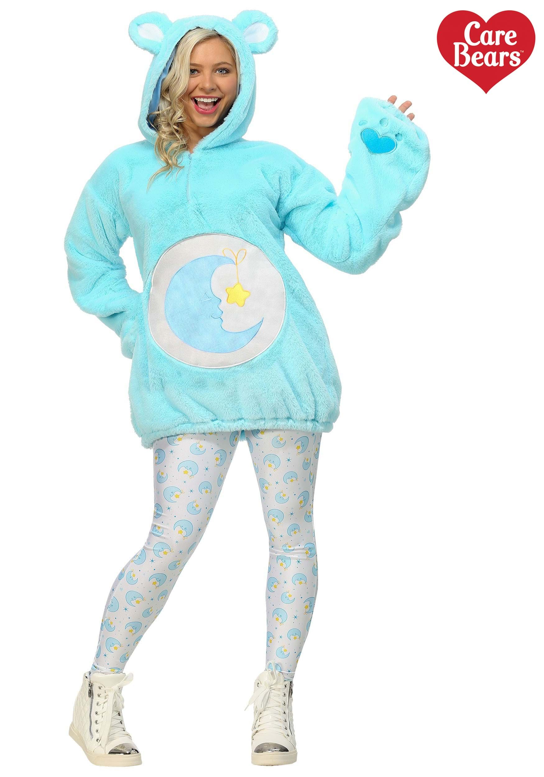 Care Bears Deluxe Bedtime Bear Hoodie Costume For Women-6345