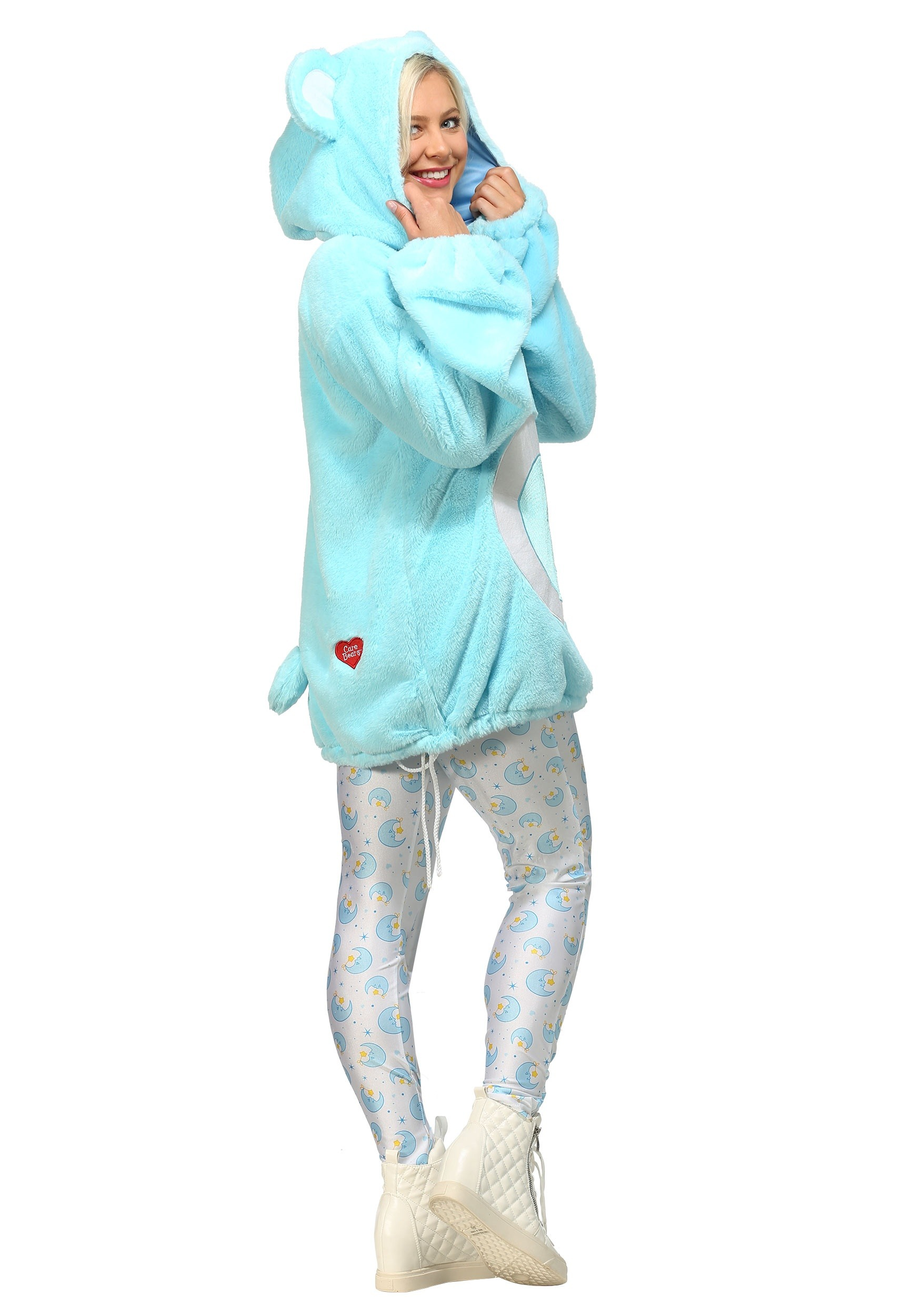 Care Bears Deluxe Bedtime Bear Hoodie Costume For Women-9036