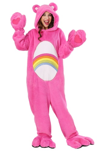 Click Here to buy Care Bears Deluxe Cheer Bear Costume for Adults from HalloweenCostumes, CDN Funds & Shipping