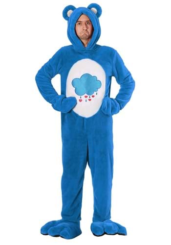 Click Here to buy Care Bears Deluxe Grumpy Bear Costume for Adults from HalloweenCostumes, CDN Funds & Shipping