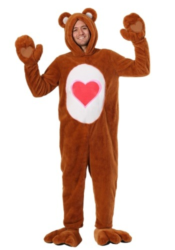 Click Here to buy Care Bears Deluxe Tenderheart Bear Costume for Adults from HalloweenCostumes, CDN Funds & Shipping