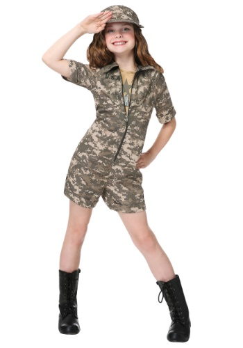 Click Here to buy Military Officer Girls Costume from HalloweenCostumes, CDN Funds & Shipping